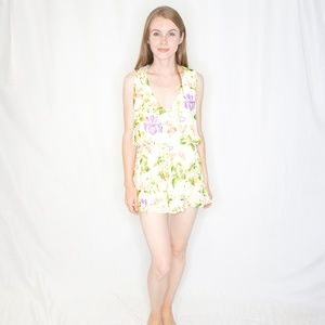 SHOW ME YOUR MUMU Floral Romper White Small 0912